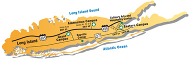 Long Island Map with Campus Locations