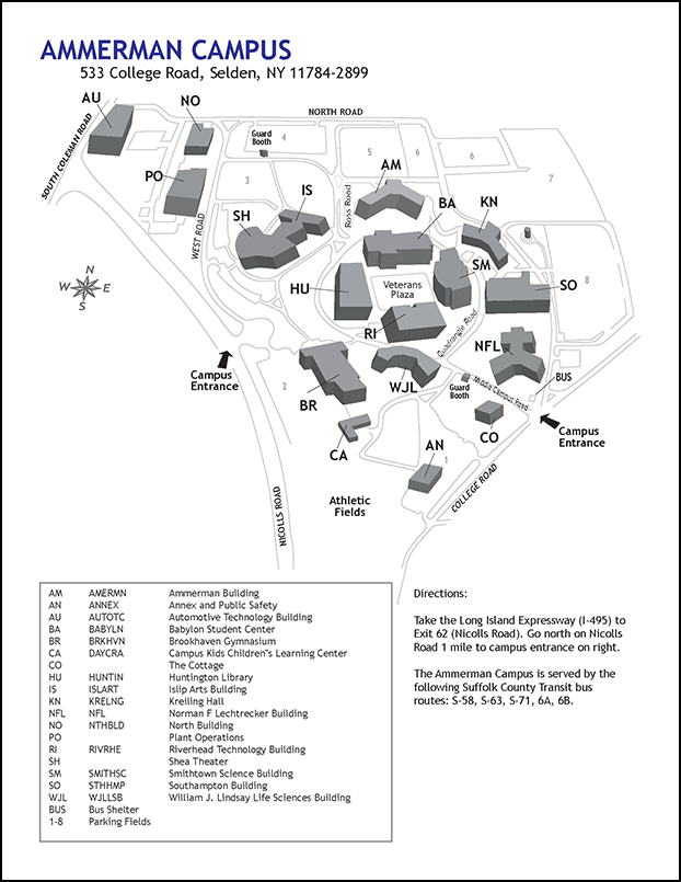 Ammerman Campus Map