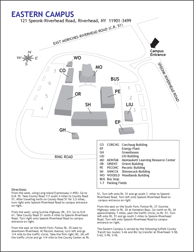 Eastern Campus Map