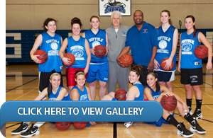 Dr. McKay Shoots Around with the Women's Basketball Team